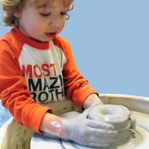 Parent and Child Pottery Wheel Anna Woolf