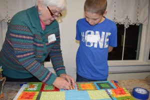 Quilting at the Kid's Art Club