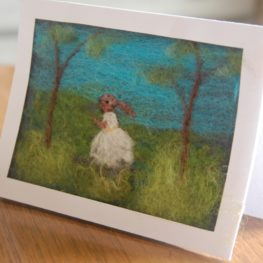 Needle Felted Greeting Cards (set of 4)