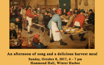 Harvest Festival to benefit the Schoodic Summer Chorus