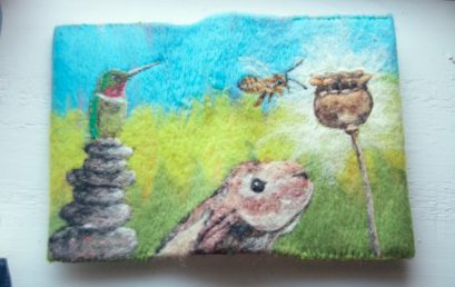 Needle Felted Journal Covers
