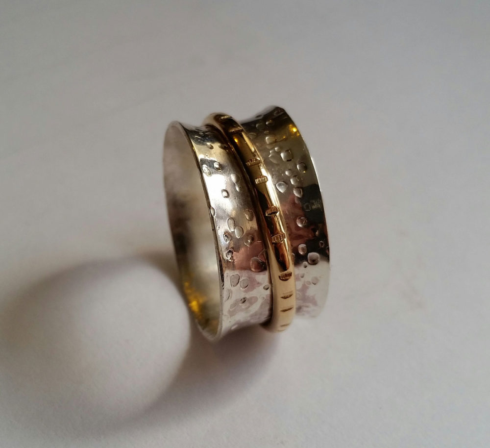 Sterling Silver Spinning Rings with Amanda Coburn