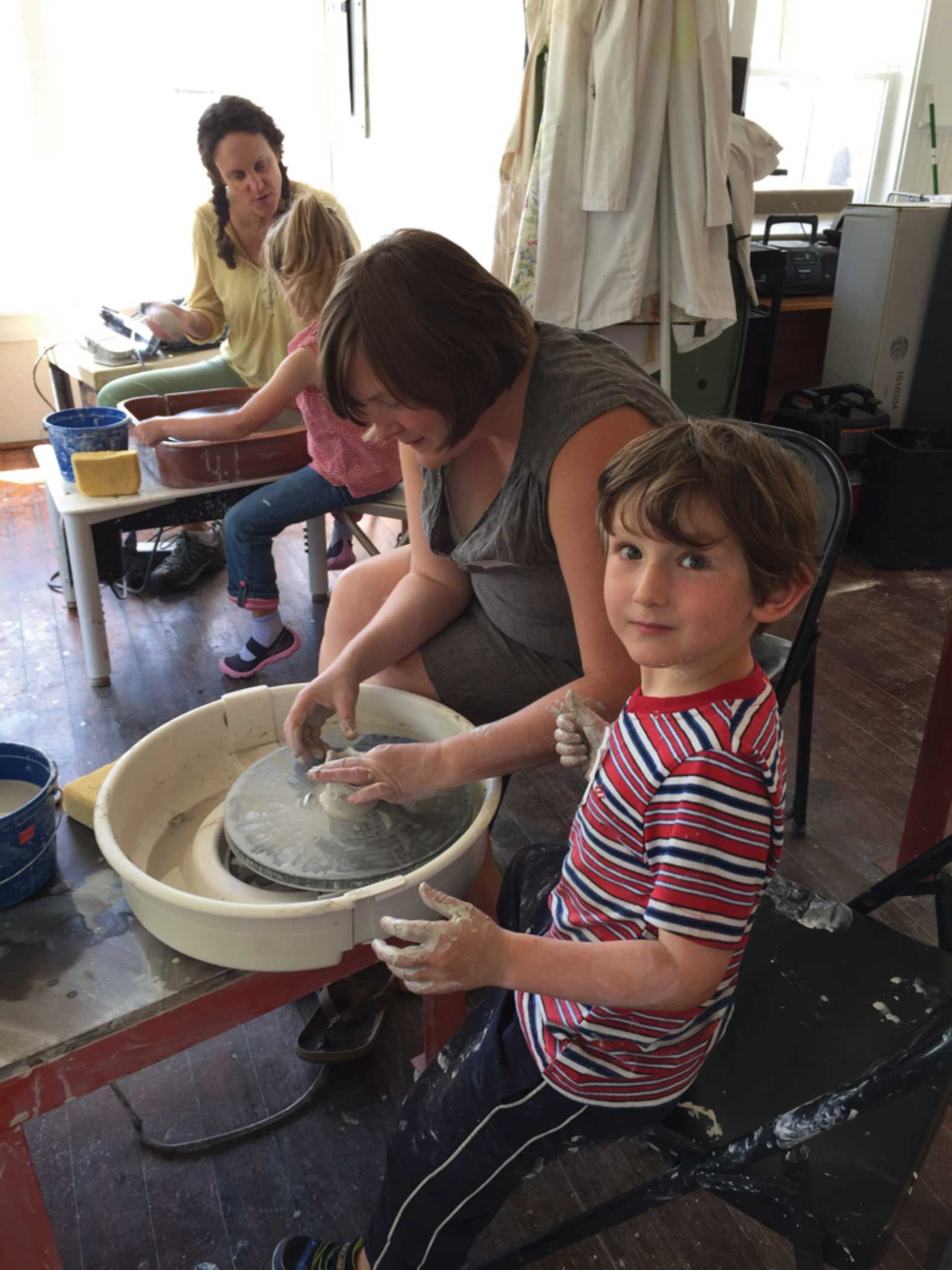 Drawing Calendar 2018 : Clay with me parent and child wheel class schoodic arts