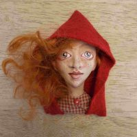 Red Riding Hood Wearable Pin with Lillian Alberti
