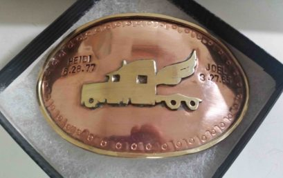 Copper and Brass Belt Buckle