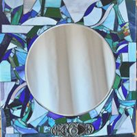 Mixed Media Mosaic Mirror with Meri Levesque