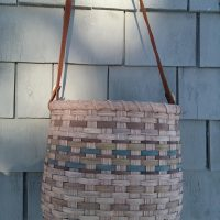 Leather Handled Tote Basket with Martha Chessie