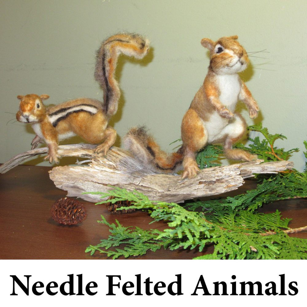 Needle Felted Animals Cathy Clark for Web