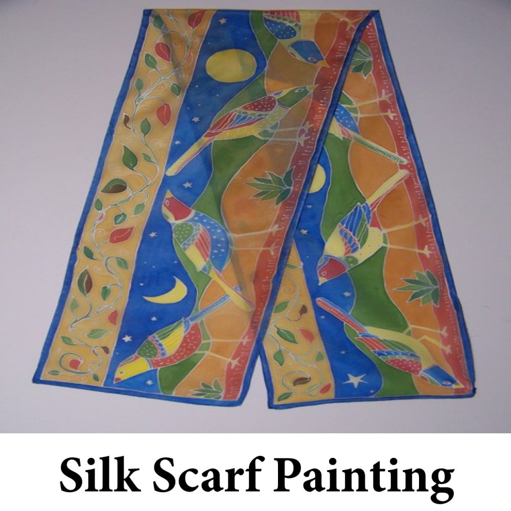 Silk Scarf Painting Leanne Nickon for Web