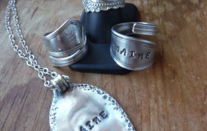 Silver Spoon Ring and Pendant