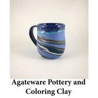 Agateware Pottery and Coloring Clay for page