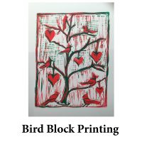 Bird Block Printing for page