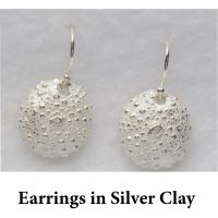 Earrings in Silver Clay for page