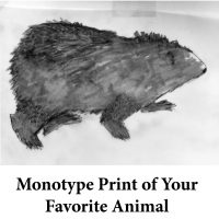 Monotype Print of Your Favorite Animal for page