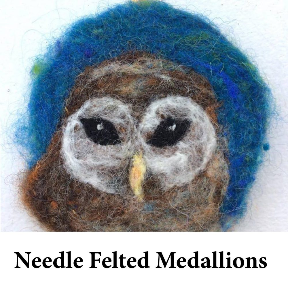 Needle Felted Medallions for page