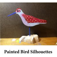 Painted Bird Silhouettes for page