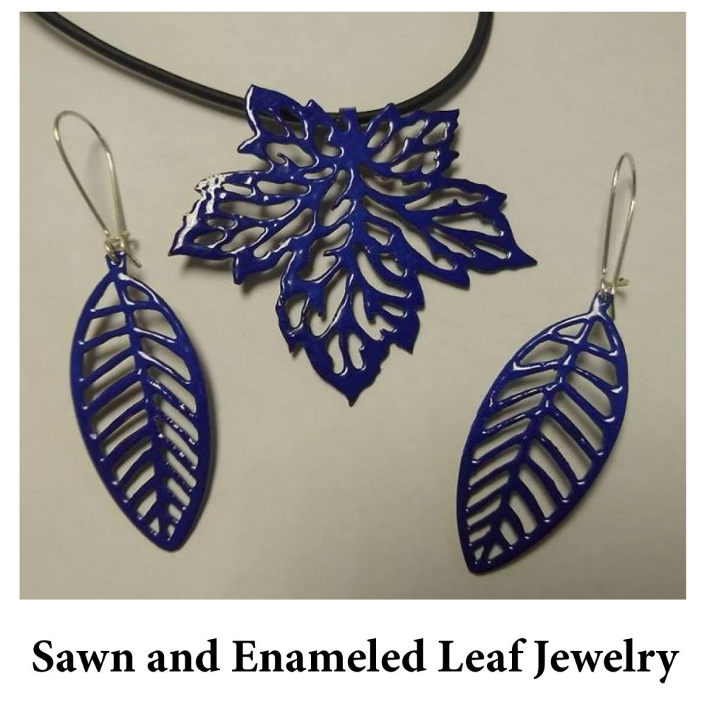 Sawn and Enameled Leaf Jewelry for page