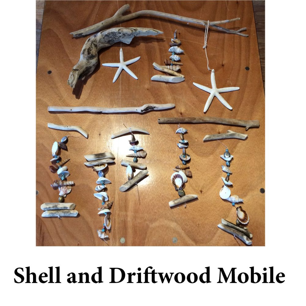 Shell and Driftwood Mobile for page