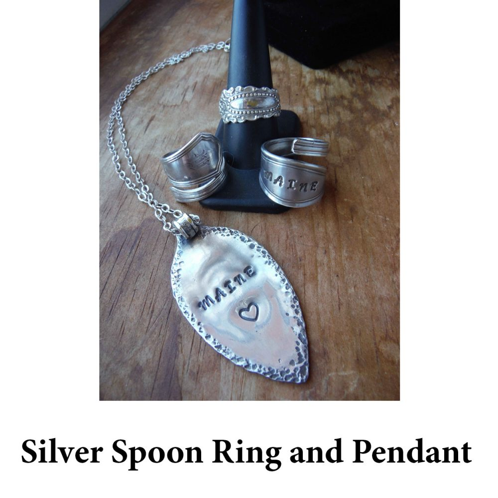 Silver Spoon Ring and Pendant for page