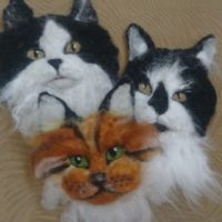 Cathy Bell Needle Felted Animal Animal Faces