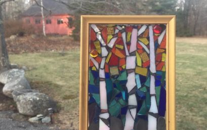 Stained Glass Mosaic Birches (Virtual)
