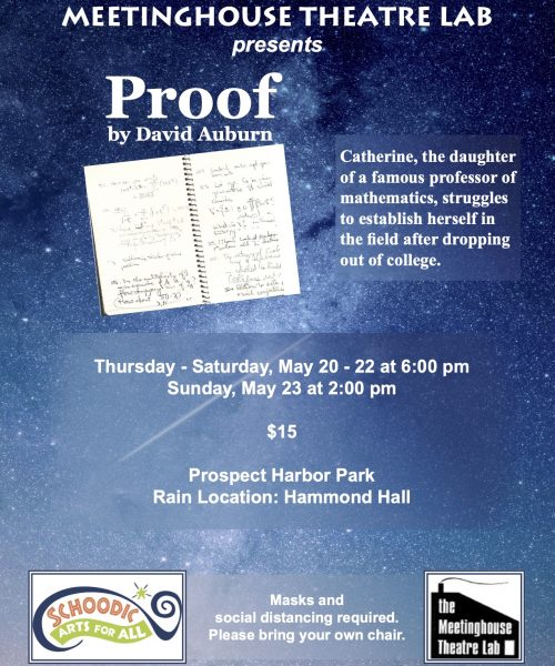 proof poster by Lisa Meetinghouse Theatre Lab