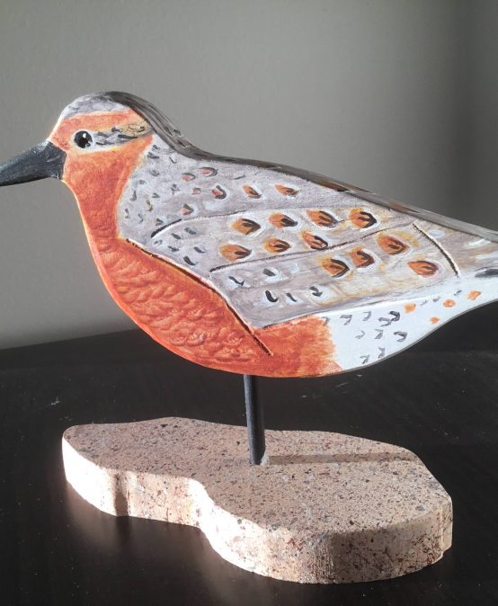 Bird Carving: Red Knot